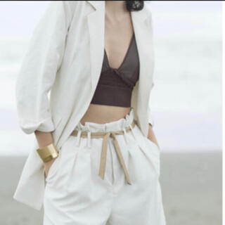 Ameri VINTAGE - little linen over jacket ameri 新品