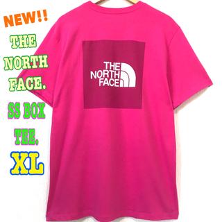 ザノースフェイス(THE NORTH FACE)のユニセックス☆ 新品 ノースフェイス BOX Tシャツ ピンク XL LL(Tシャツ/カットソー(半袖/袖なし))