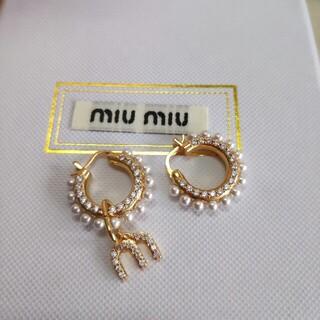 miumiu - 人気美品 ミュウミュウ ピアス レディース 刻印 綺麗