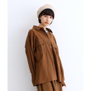 メルロー(merlot)のmerlot ビッグポケットシャツ ブラウン(シャツ/ブラウス(長袖/七分))
