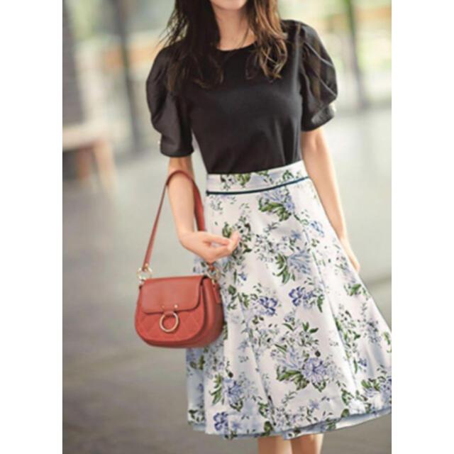 Apuweiser-riche(アプワイザーリッシェ)のアプワイザーリッシェ リバーシブルフラワースカート レディースのスカート(ひざ丈スカート)の商品写真