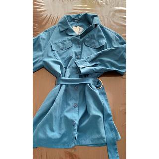EMODA - EMODA Wポケットオーバーシャツ ブルー