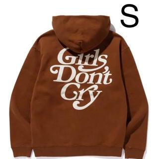 GDC - girls don't cry ブラウン ロゴフーディ パーカーSサイズ