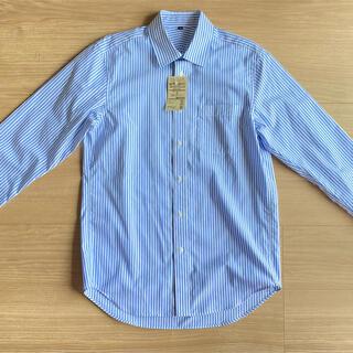 ムジルシリョウヒン(MUJI (無印良品))の無印 新疆綿 形態安定ブロードシャツ ストライプシャツ S スカイブルー(シャツ)