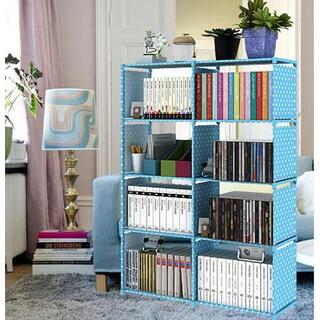 本棚 大容量 整理棚 ワイヤー収納ラック 組み立て式 衣類収納ボックス(本収納)