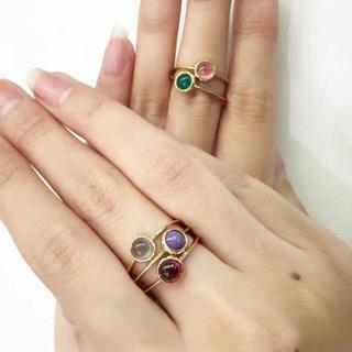 エナソルーナ(Enasoluna)のK10♡8号♡リング♡グレームーンストーン(リング(指輪))