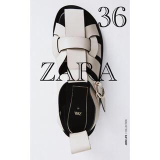 ZARA - ZARAザラ幻のレザーフラットサンダル36 田中綾子 グルカサンダル
