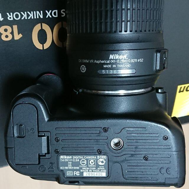 Nikon(ニコン)のNikon ニコン D5100 レンズキット ブラック ※撮影回数約7,100枚 スマホ/家電/カメラのカメラ(デジタル一眼)の商品写真
