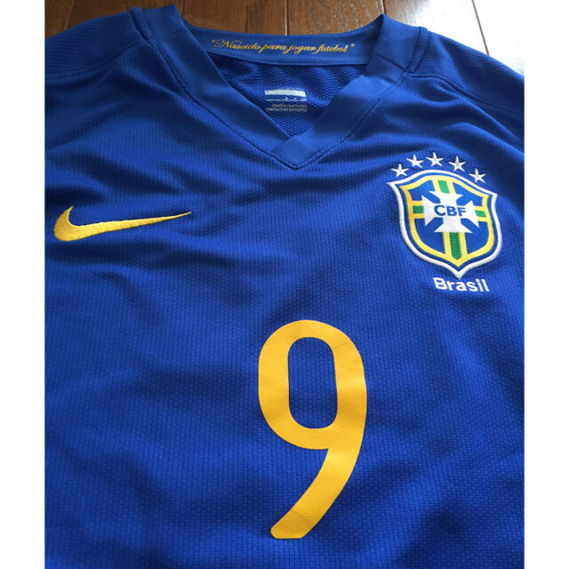 NIKE(ナイキ)のNIKE ナイキ ブラジル代表 ユニフォーム 9番 ルイスファビアーノ S スポーツ/アウトドアのサッカー/フットサル(ウェア)の商品写真