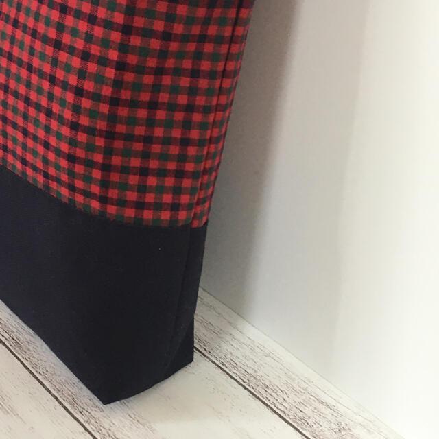 ファミリアワッペン ハンドメイド マチ付きレッスンバッグ キッズ/ベビー/マタニティのこども用バッグ(レッスンバッグ)の商品写真