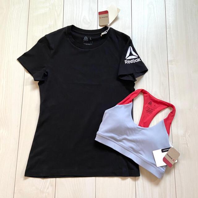 Reebok(リーボック)の新品 Reebok Tシャツ ブラトップ L スポーツウェア トレーニング スポーツ/アウトドアのランニング(ウェア)の商品写真