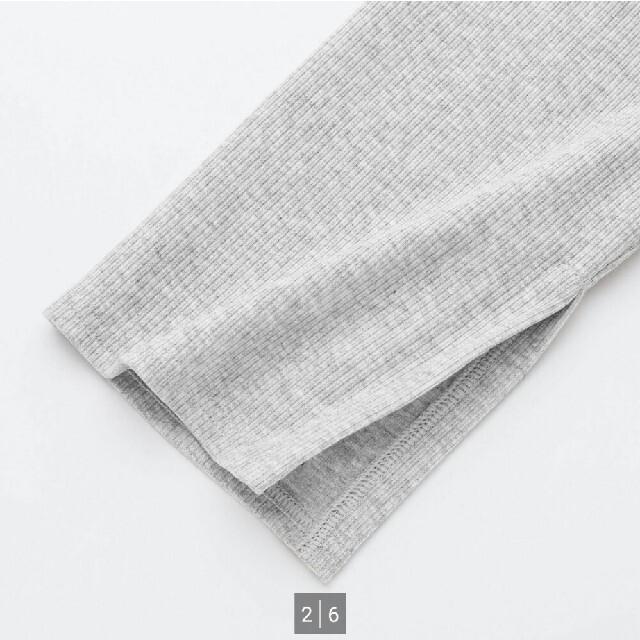 UNIQLO(ユニクロ)のリブスリットレギンス(十分丈) レディースのレッグウェア(レギンス/スパッツ)の商品写真