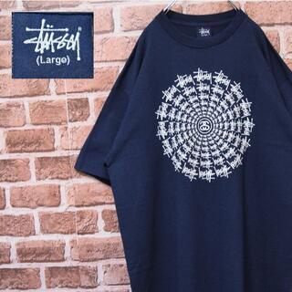 STUSSY - 《ステューシー》美品 オールドスタイル ネイビー 希少デザイン L Tシャツ