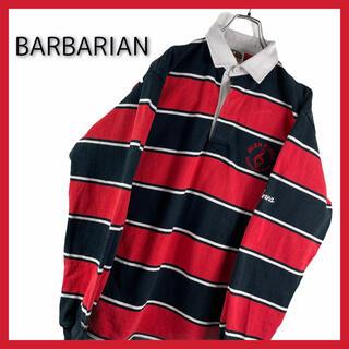 バーバリアン(Barbarian)のバーバリアン ラガーシャツ ポロシャツ 刺繍 カナダ製(ポロシャツ)