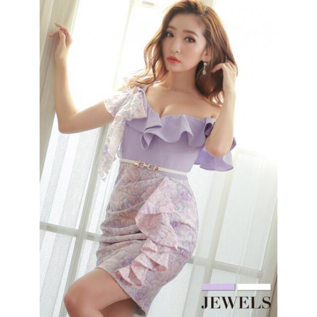 JEWELS(ジュエルズ)のJewels ドレス レース花柄/ワンショル レディースのフォーマル/ドレス(ナイトドレス)の商品写真