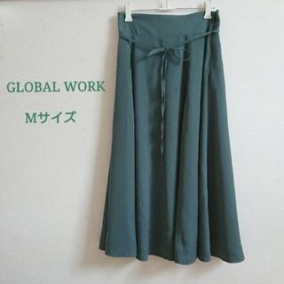 グローバルワーク(GLOBAL WORK)のグローバルワーク フレアスカート M ひざ丈 グリーン(ひざ丈スカート)