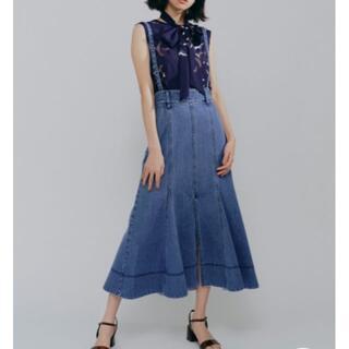 Lily Brown - リリーブラウン❣️人気❣️サスペンダー付きデニムスカート