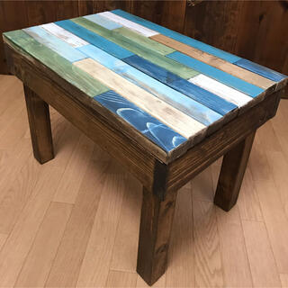 ★Ocean Webオリジナル西海岸のビーチハウスをイメージしたカラーテーブル(ローテーブル)