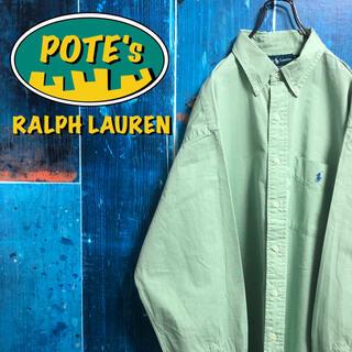Ralph Lauren - 【ラルフローレン】ワンポイント刺繍ロゴポケットビッグボタンダウンシャツ 90s