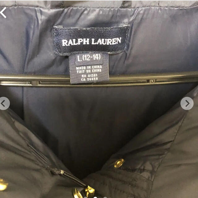 Ralph Lauren(ラルフローレン)の美品 ラルフローレン ダウン キッズ キッズ/ベビー/マタニティのキッズ服女の子用(90cm~)(ジャケット/上着)の商品写真