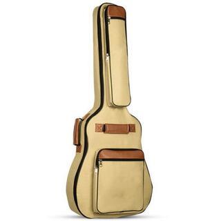 ギターケース ソフトケース アコギ リュック 41インチ ベージュ(ケース)