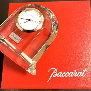 バカラ(Baccarat)のバカラ ベガ ウォッチ 置時計 美品 クリスタル 動作 Baccarat(置時計)