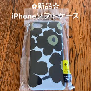 新品 マリメッコ 風 花柄 iPhone6 7 SE スマホケース ソフト(iPhoneケース)