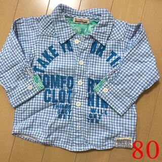 ブランシェス(Branshes)のチェックシャツ (80)(シャツ/カットソー)