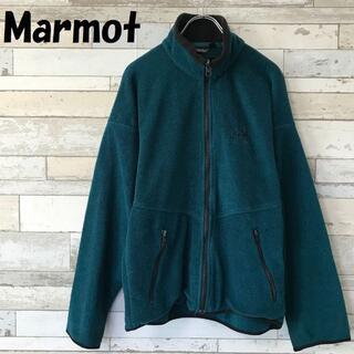 MARMOT - マーモット USA製 ワンポイント刺繍 ジップアップ フリースジャケット SM