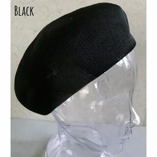 送料込 新品 サーモ ベレー帽 サマー 春 夏 形状記憶 シンプル 男女兼用 K