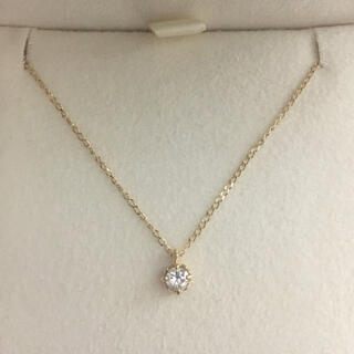 agete - agete アガット ダイヤモンド ネックレス K18YG 0.10ct