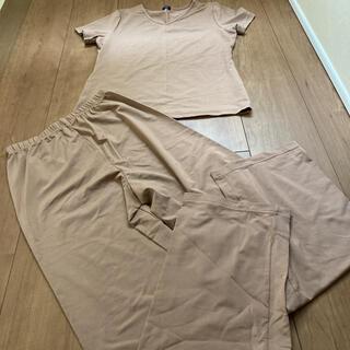 MICHEL KLEIN - 日本製 ルームウェア ブラウン パジャマ 肌着 Tシャツ ミッシェルクラン