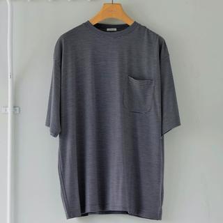 COMOLI - 21ss サイズ 2 ボーダー ウール天竺 Tシャツ ベタシャン comoli