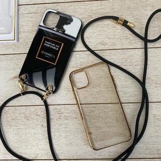 アイフォリア(IPHORIA)のiphoria iPhone11用ケース + ゴールドフレームケース(iPhoneケース)