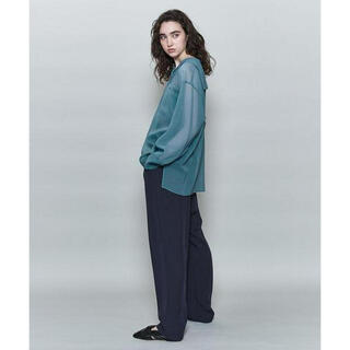 BEAUTY&YOUTH UNITED ARROWS - 6 roku SHEER SAILOR COLLAR BROUSE
