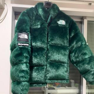 supreme the north face fur Lサイズ グリーン(ダウンジャケット)