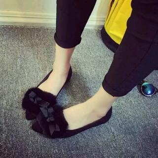 新品!ファーフラット靴 ...