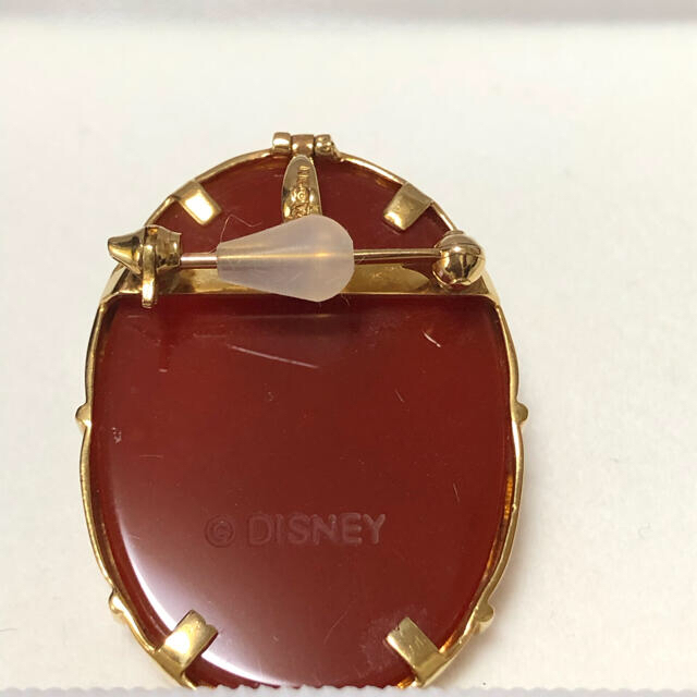 Disney(ディズニー)のk18 カメオ ブローチ ペンダントトップ レディースのアクセサリー(ブローチ/コサージュ)の商品写真