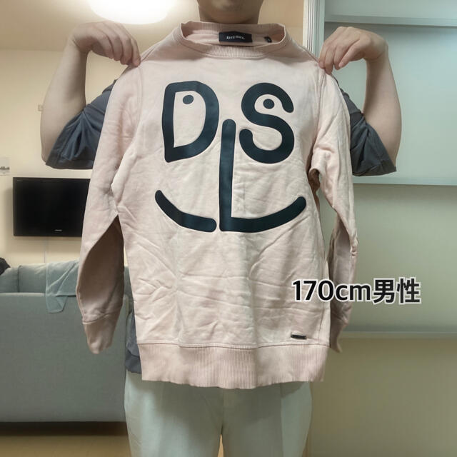 DIESEL(ディーゼル)のDIESEL ディーゼル スウェット ピンク メンズのトップス(スウェット)の商品写真
