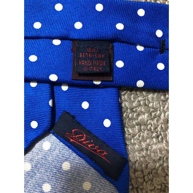 DIVA ディーバ シルクプリント ドット ブルー ネクタイ メンズのファッション小物(ネクタイ)の商品写真