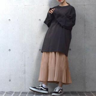 ダブルクローゼット(w closet)のw closet ダブルクローゼット ランダムプリーツスカート新品(ロングスカート)