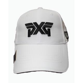 ★新品★PXGゴルフキャップ/帽子 白/White マーカー付き(キャップ)