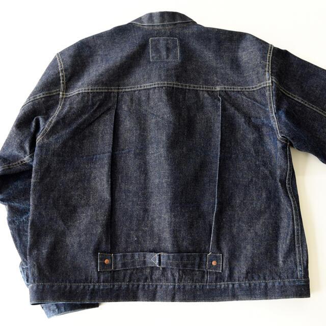 WAREHOUSE(ウエアハウス)の希少 サイズ44 DD-S2001XX NEW DENIM ステッチカスタム メンズのジャケット/アウター(Gジャン/デニムジャケット)の商品写真