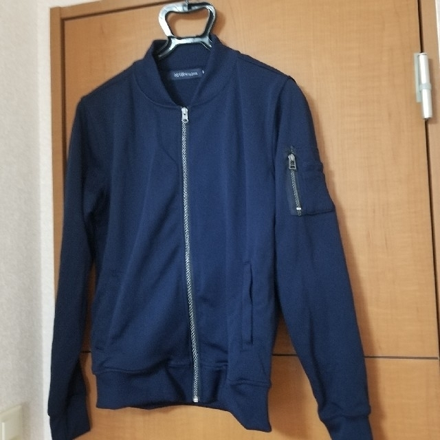 MA-1風 ジャケット ジャージ生地 ノーブランド メンズのジャケット/アウター(ブルゾン)の商品写真