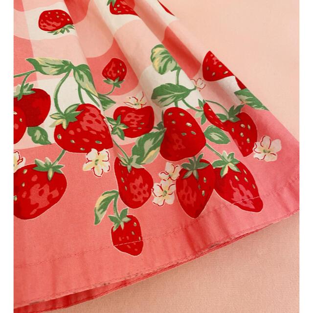 Shirley Temple(シャーリーテンプル)のシャーリーテンプル♡ブロック苺ワンピース 100 キッズ/ベビー/マタニティのキッズ服女の子用(90cm~)(ワンピース)の商品写真