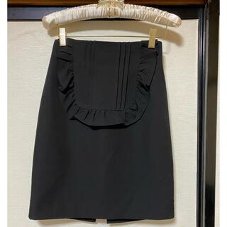 アンクルージュ(Ank Rouge)のアンクリュージュ ブラックスカート フリル(ひざ丈スカート)
