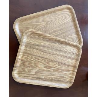 ムジルシリョウヒン(MUJI (無印良品))の●3枚セット 大きめ木製トレー カフェトレー お盆 ランチョンマット(テーブル用品)