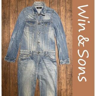 ウィンアンドサンズ(Win&Sons)のWin & Sons Type-Akitani デニムつなぎ/ブーツカット(サロペット/オーバーオール)