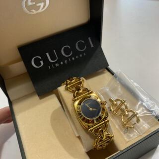 Gucci - ☆GUCCI☆ グッチ ホースビット ゴールドブレス 6400L 腕時計