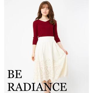 ビーラディエンス(BE RADIANCE)の【美人百花掲載】ビーラディエンス  ヒートカットスカート(ひざ丈スカート)